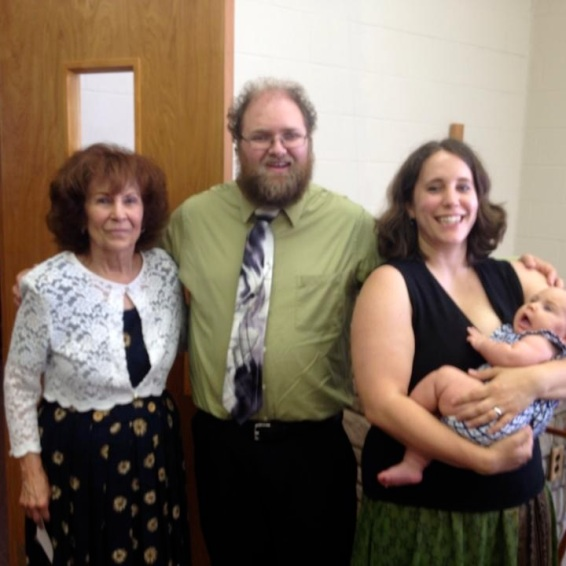 The Todds with Joy Henry after speaking at Erlanger Church of God